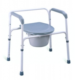 Extra Wide Steel Three-in-One Commode chair