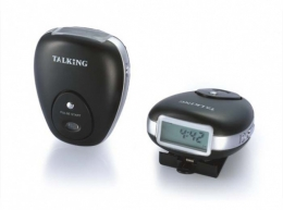 Talking Pedometer with Pulse Meter