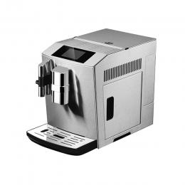 Máquina de café automática com carcaça em aço inoxidável com um