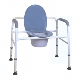 Extra Wide Steel Commode Chair