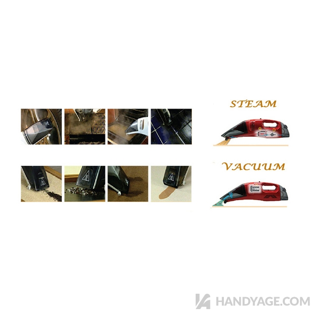 Handheld Wet Dry Steam & Vacuum Cleaner